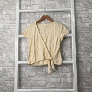 Madewell Wrap Top Bright Ivory Size Small